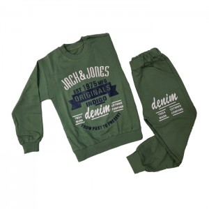 ست بلوز شلوار پسرانه مدل Jack & Jones رنگ سبز سدری