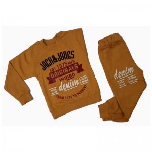 ست بلوز شلوار پسرانه مدل Jack & Jones رنگ خردلی