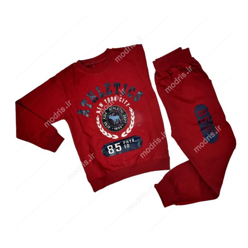ست بلوز شلوار پسرانه مدل Athletics رنگ قرمز